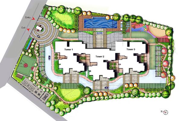 Site plan fortius waterscape bangalore for How to plan a website