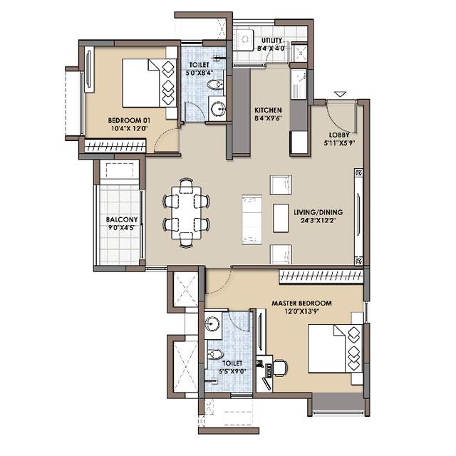 Floor Plans - Fortius Infra, Bangalore